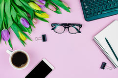 Spring workplace Royalty Free Stock Photo