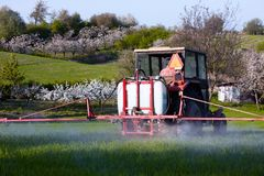 Spring Works In The Field Stock Images