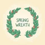 Spring wreath Stock Image