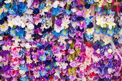 Spring wreaths of flowers of various colors. For sale Stock Images