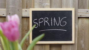 Spring written Stock Images