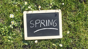 Spring written in a park Stock Photography