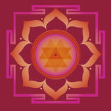 Spring yantra for health and wellbeing. Flower elements and mandalas with esoteric sense for yoga practice and design for health and wellbeing Royalty Free Stock Photography