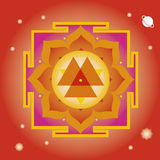Spring yantra for  wellbeing. Flower elements and mandalas with esoteric sense for yoga practice and design for health and wellbeing Royalty Free Stock Photo