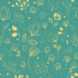Spring Yellow Flowers. Vector Seamless Pattern Stock Images