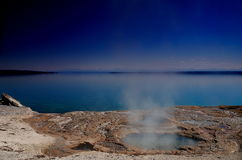 Spring,yellowstone lake Stock Photo