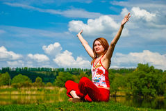 Spring yoga Royalty Free Stock Photos