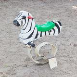 Spring zebra, outdoor toy for children Royalty Free Stock Photo