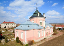 Spring Zolochiv castle view (Ukraine) Royalty Free Stock Photo