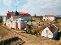 Spring Zolochiv castle view (Ukraine) Royalty Free Stock Photos