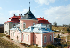 Spring Zolochiv castle view (Ukraine) Royalty Free Stock Photos
