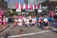 Springa för den botmedvetenhetPortland Oregon händelsen Royaltyfria Bilder