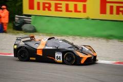 Springa för KTM-X-pilbåge GT4 bil på Monza Royaltyfria Foton