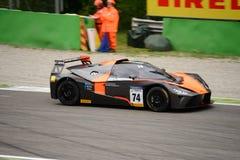 Springa för KTM-X-pilbåge GT4 bil på Monza Royaltyfria Bilder