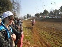 Springa för motocross Arkivfoto