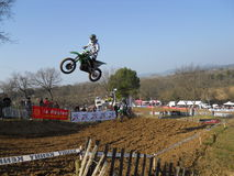 Springa för motocross Arkivbild