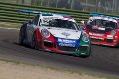 Springa för Porsche Carrera koppItalia bil Arkivbilder