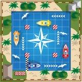 Springa på fartyg stock illustrationer