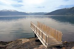Springboard. Near a lake in Norway Royalty Free Stock Photos