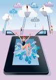 Springboard Dive Digital Tablet Stock Image