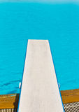 Springboard on swimming pool Royalty Free Stock Photos