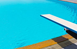 Springboard on swimming pool Royalty Free Stock Photography