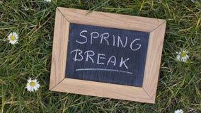 Springbreak written Royalty Free Stock Photo