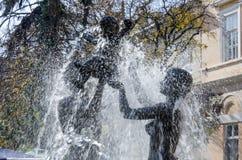 springbrunn Arkivfoton