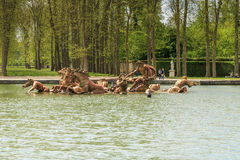 Springbrunn av Apollo, Versailles Arkivfoton