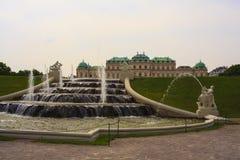 Springbrunn av belvederen, Wien arkivfoto