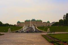 Springbrunn av belvederen, Wien royaltyfri foto