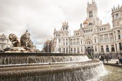 Springbrunn av Cibeles i Madrid royaltyfri bild