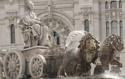 Springbrunn av Cibeles i Madrid Arkivbilder