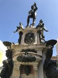 Springbrunn av den NeptunpiazzaMaggiore bolognaen royaltyfri foto