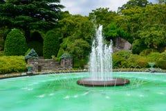 Springbrunn av Gora Park i Hakone, Kanagawa, Japan Arkivbilder