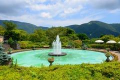 Springbrunn av Gora Park i Hakone, Kanagawa, Japan Royaltyfri Fotografi