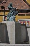 Springbrunn av kvävning, Zagreb Fotografering för Bildbyråer