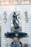 Springbrunn av Neptun i Gdańsk Fotografering för Bildbyråer
