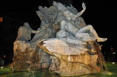 Springbrunn av Neptun, piazza Navona royaltyfria foton
