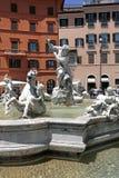 Springbrunn av Neptun, piazza Navona, Rome, Italien Royaltyfria Foton