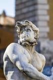 Springbrunn av Neptun, piazza Navona, Rome, Italien Arkivfoto