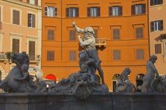 Springbrunn av Neptun Rome Fotografering för Bildbyråer
