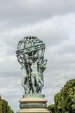 Springbrunn av observatoriet, Luxembourg trädgårdar Paris Royaltyfria Foton