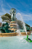 Springbrunn av observatoriumet, Luxembourg trädgårdar Royaltyfria Bilder