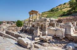 Springbrunn av Trajan, forntida Ephesus, Turkiet Royaltyfri Fotografi