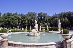 Springbrunn av Venus, villa Borghese Arkivbilder