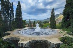 Springbrunn av villad'Este Tivoli den viktiga världsarvet och den viktiga resande destinationen i central av Italien Royaltyfria Bilder