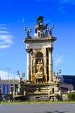 springbrunn barcelona catalonia spain Royaltyfri Fotografi