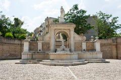 Springbrunn Cavallina Genzano di Lucania italy royaltyfria bilder