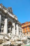 Springbrunn di Trevi i Rome Royaltyfria Foton